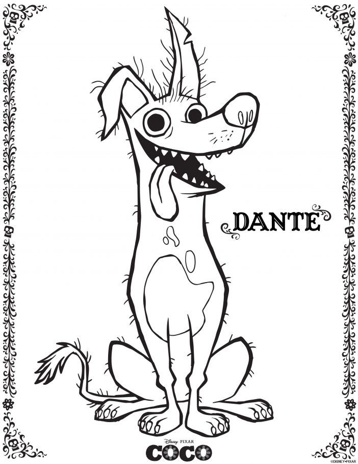 Dante Coco Coloring Pages 1