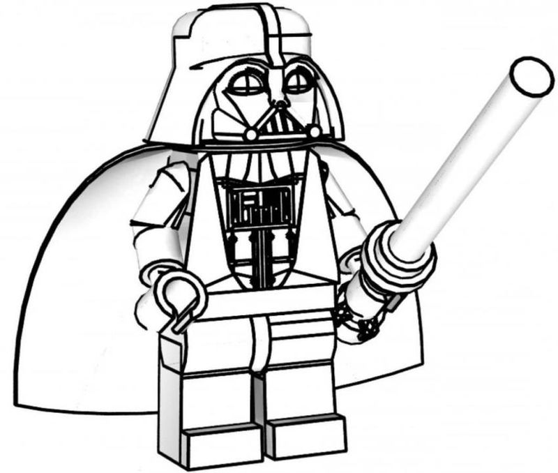Darth Vader Lego Star Wars Coloring Pages 001
