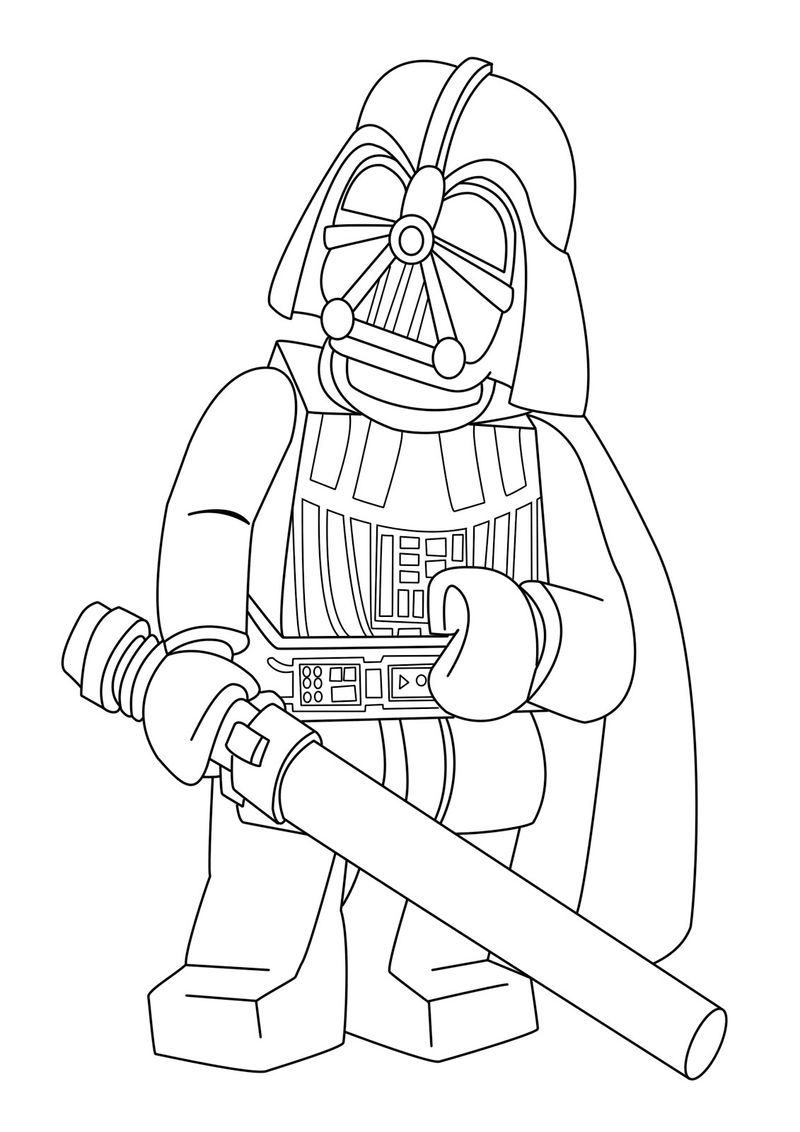 Darth Vader Star Wars Lego Coloring Pages