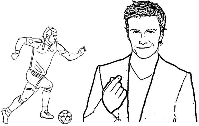 David Beckham And Gareth Bale Football Player Coloring Page Of Soccer