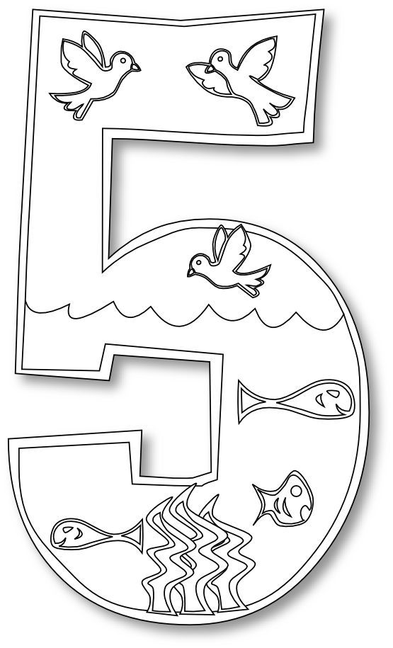 Day 5 Creation Coloring Pages