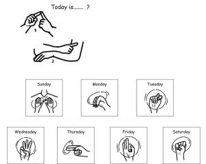 Day in asl pictures printable