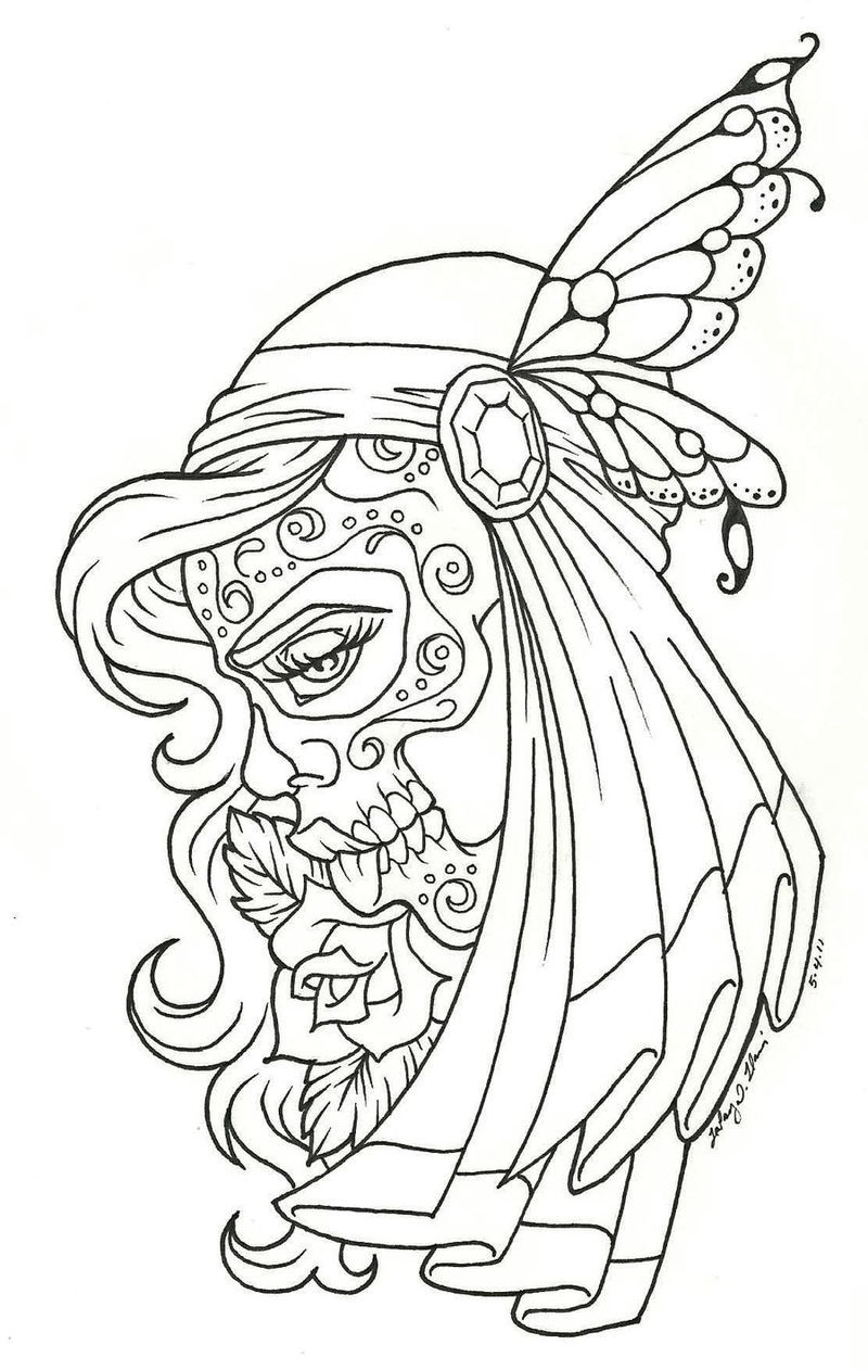 Day Of The Dead Coloring 001