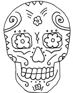 Day of the dead coloring pages of skulls 001