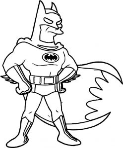 Dc comics batman the animated series coloring page