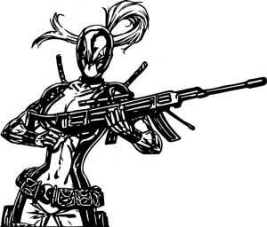Deadpool girl coloring page