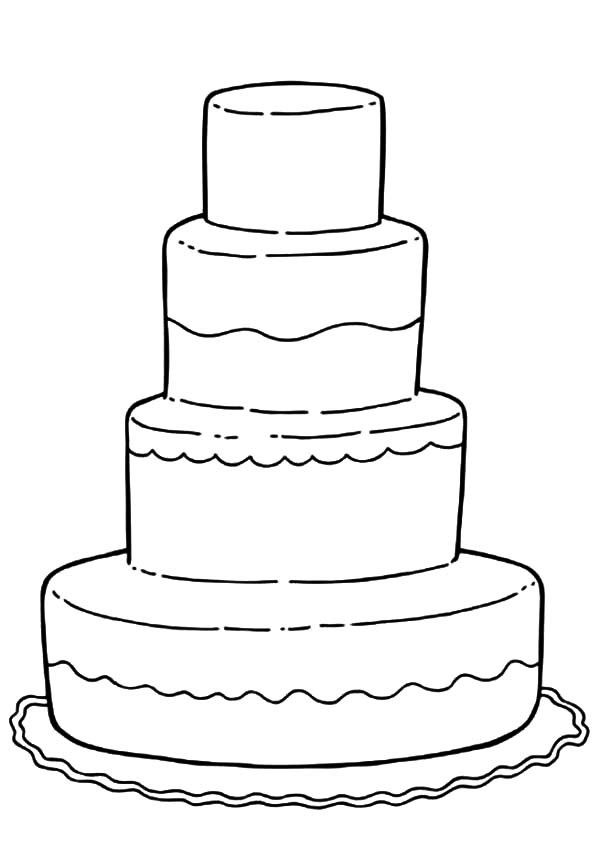 Decorate The Wedding Cake Coloring Activity