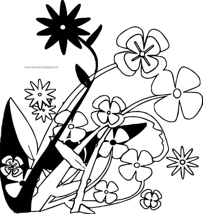 Decorative Flowers Coloring Page
