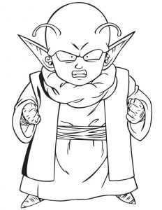 Dende dragon ball z coloring pages 001