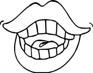 Dental girl lips coloring page