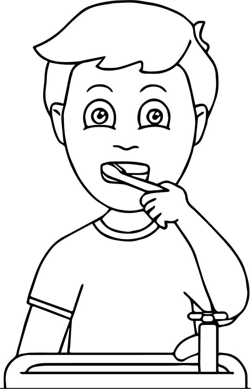 Dental Kids How Doing Tooth Brush Coloring Page