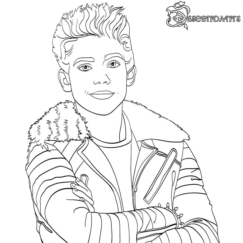 Descendants Coloring Pages Carlos