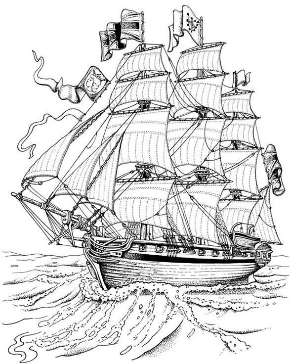 Detailed Mayflower Coloring Page Coloring Sheets