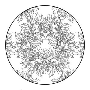 Difficult coloring pages flower cannas