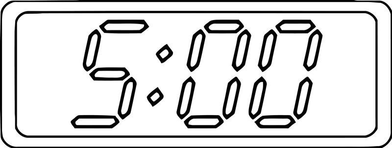 Digital Clock 500 Clip Art 103 Free Printable 29 Cartoonized Free Printable Coloring Page