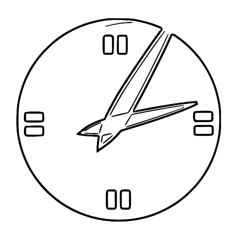 Digital Clock Clipart Anonymous Analog Clock Vector Clipa Free Printable Rt Cartoonized Free Printable Coloring Page