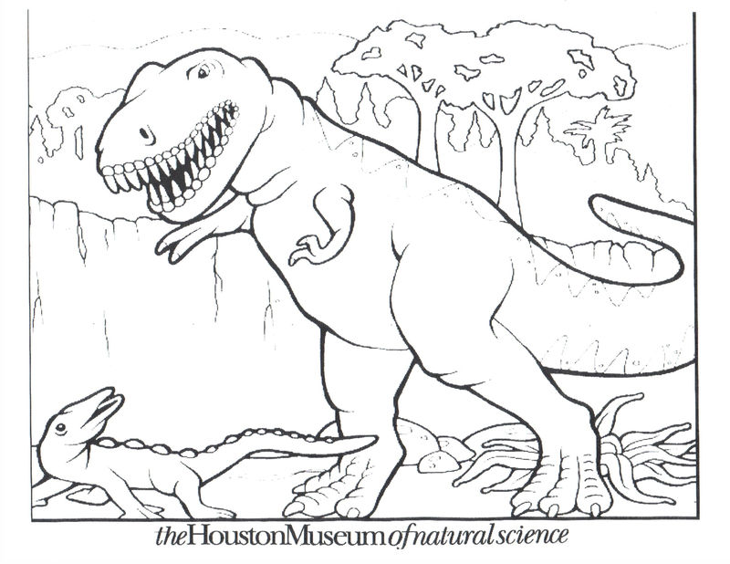 Dinosaur Color Pages For Kids