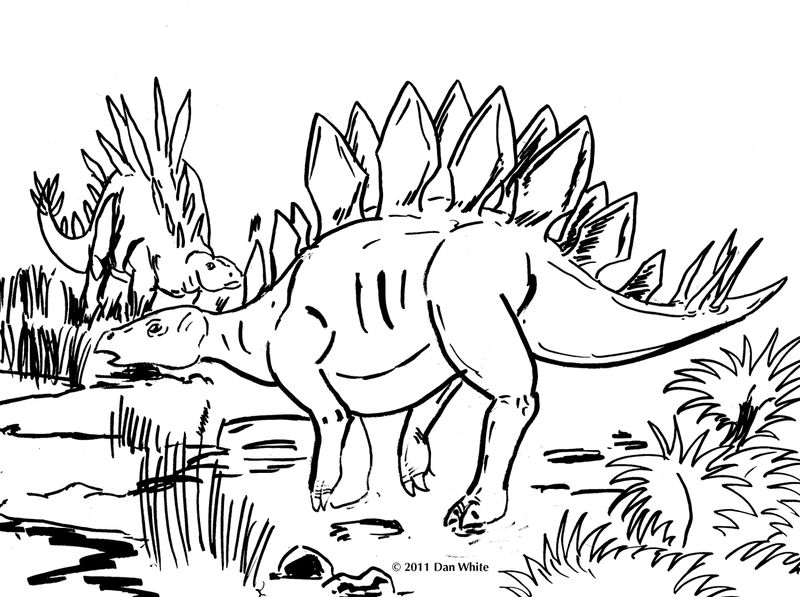 Dinosaur Coloring Pages For Kids Printable