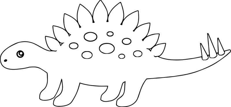 Dinosaur Side Coloring Page