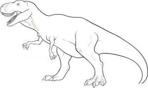 Dinosaurs coloring pages free