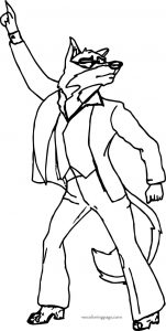 Disco balto wolf coloring page