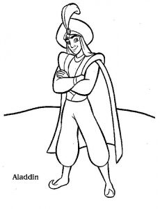 Disney aladdin coloring pages