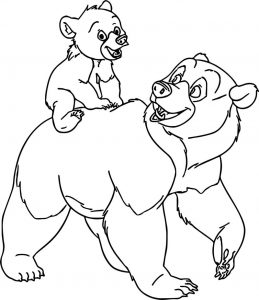 Disney brother bear carry coloring pages