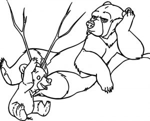 Disney brother bear coloring pages 08
