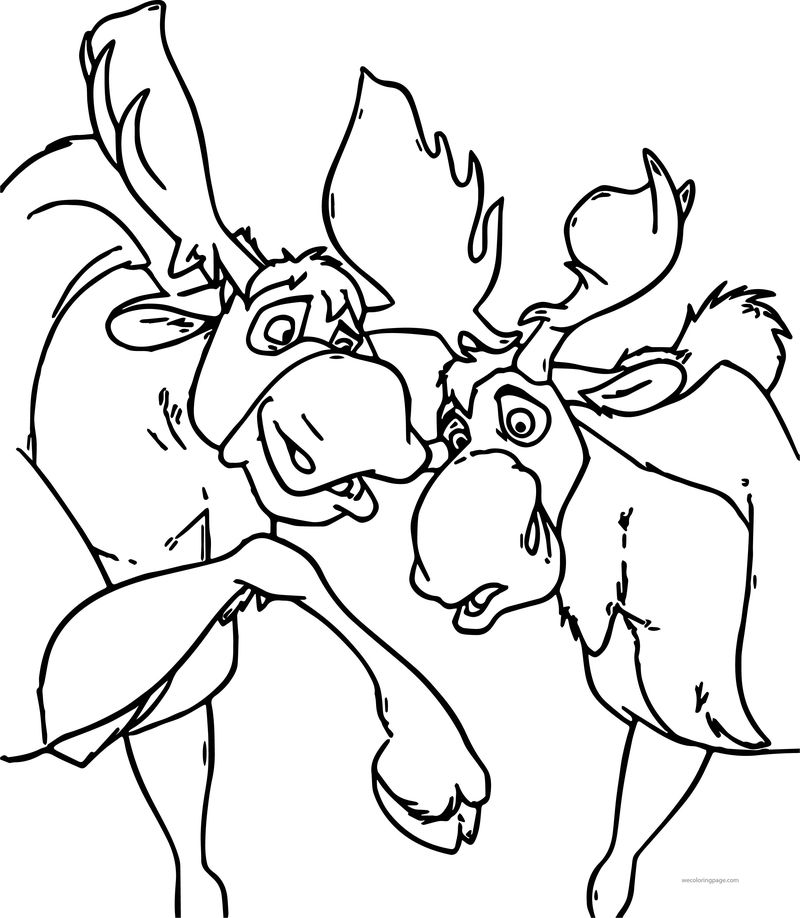 Disney Brother Bear Deer Coloring Pages