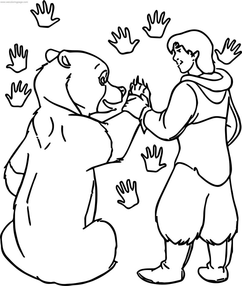 Disney Brother Bear Paw Coloring Pages
