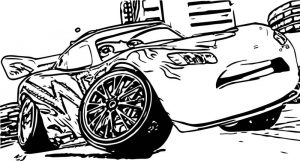 Disney cars brake coloring page