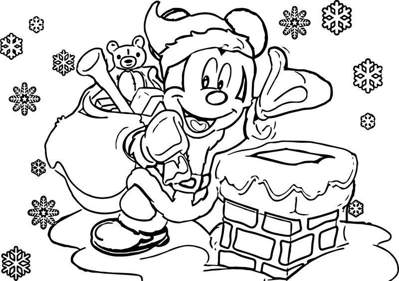 Disney Christmas Coloring Pages 02