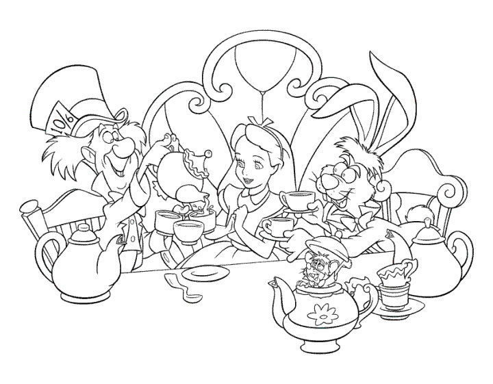 Disney Coloring Pages Alice In Wonderland