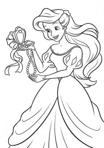 Disney coloring pages ariel with legs