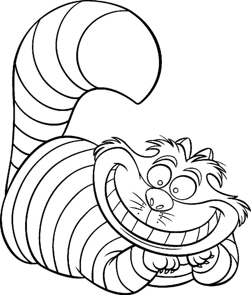 Disney Coloring Pages Cheshire Cat