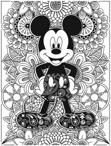Disney coloring pages micky mouse