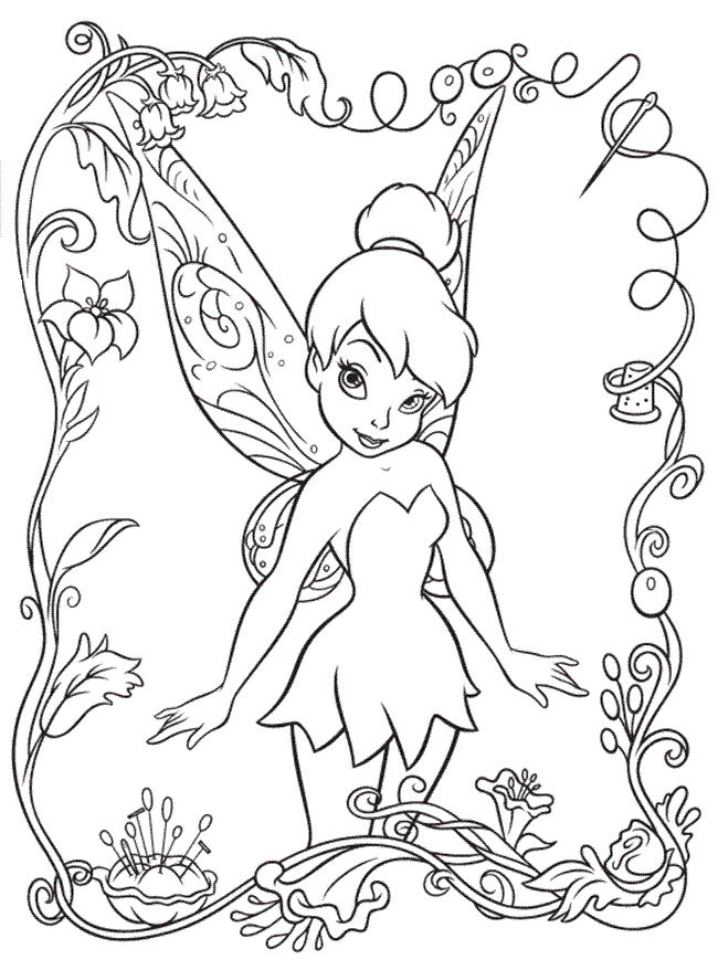 Disney Coloring Pages Tinkerbell