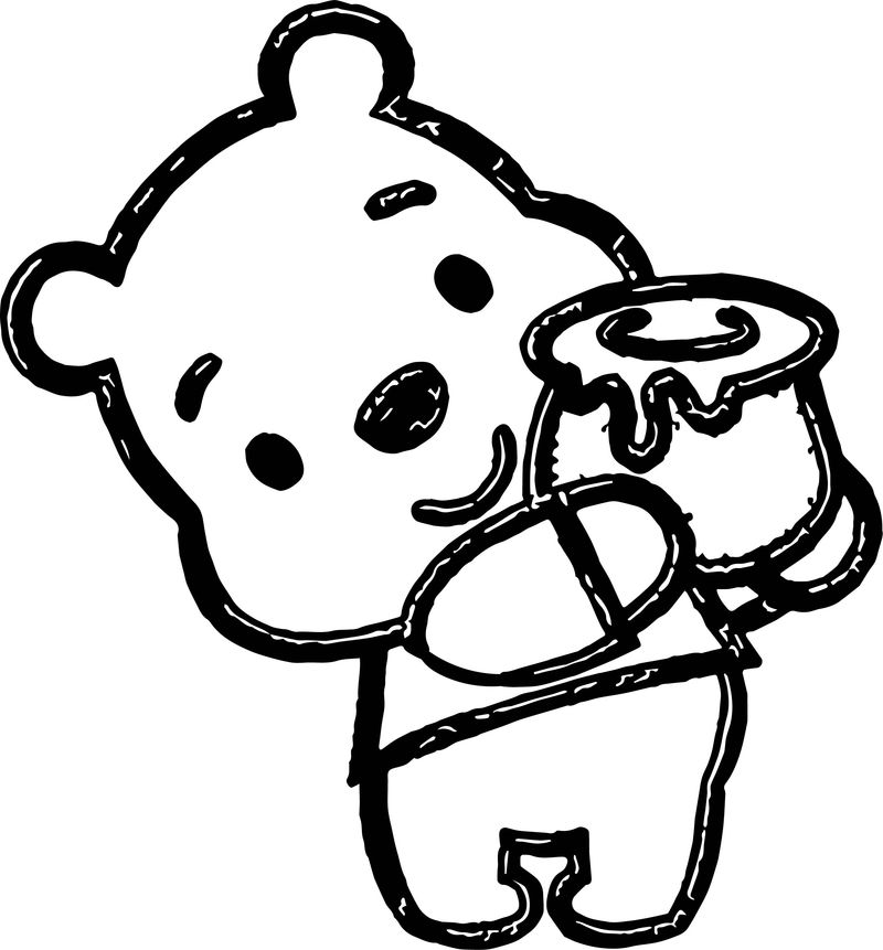 Disney Cuties Baby Pooh Embroidery Design Coloring Page