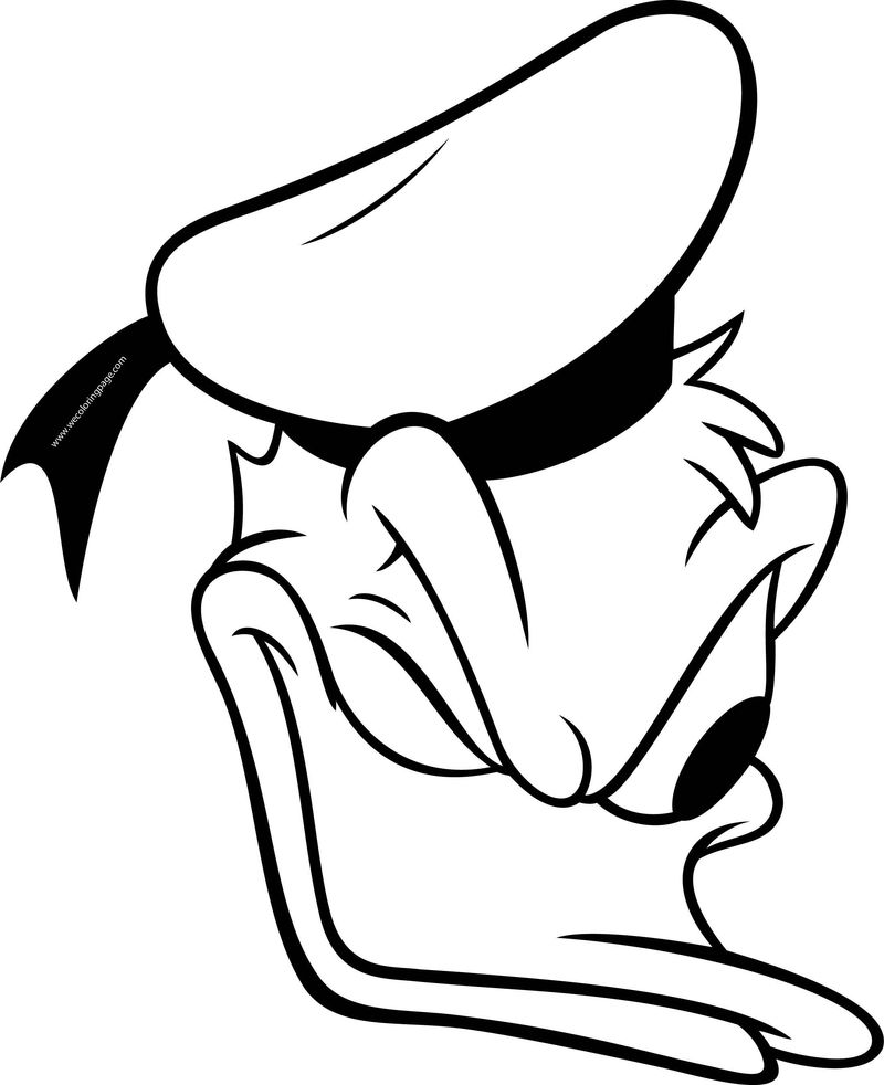 Disney Donald Face Look Coloring Page