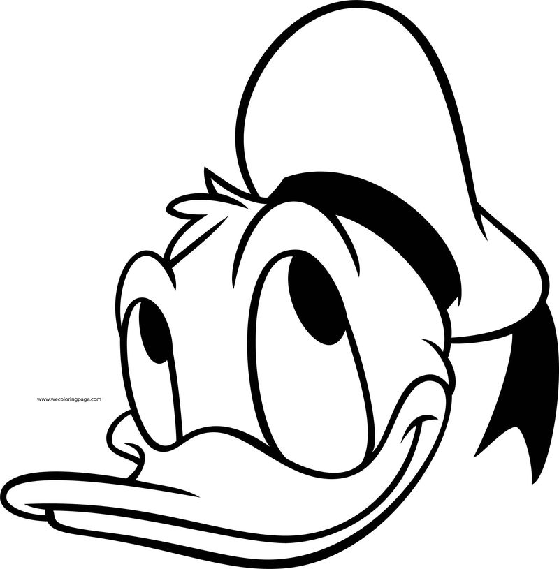 Disney Donald Thinking Face Coloring Page