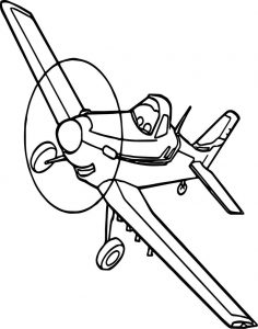 Disney dusty plane coloring pages