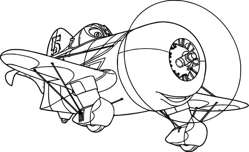 Disney Dusty Planes Elchupacabra Coloring Pages