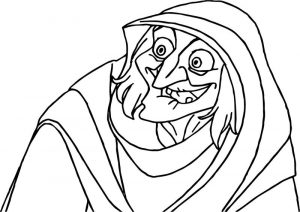 Disney enchanted old woman coloring page