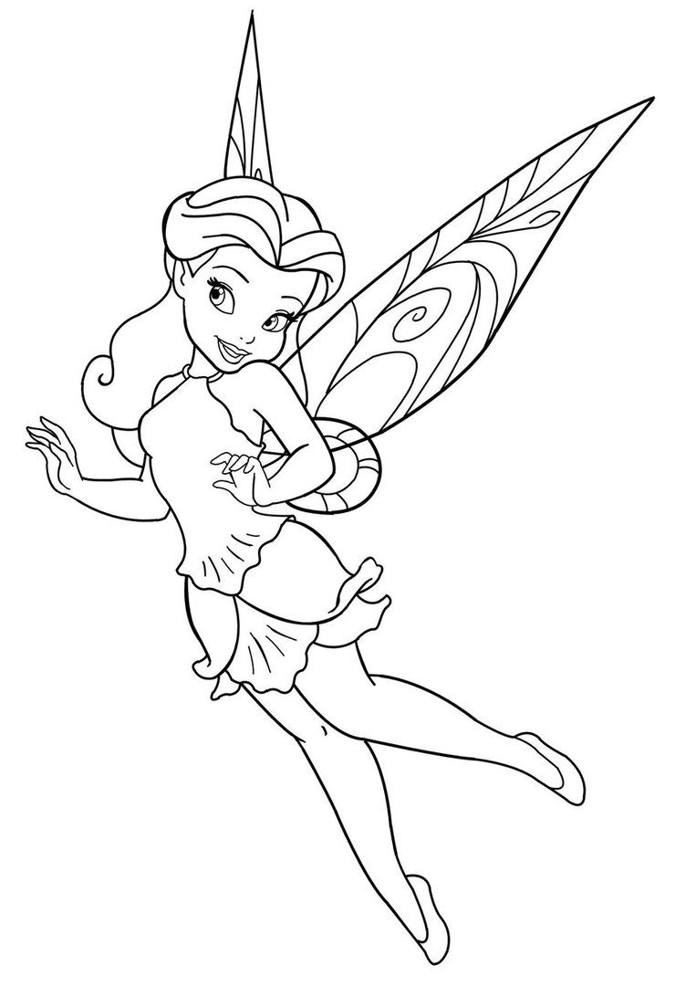 Disney Fairy Coloring Page Free