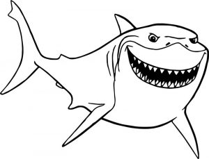 Disney finding nemo bruce shark just coloring pages