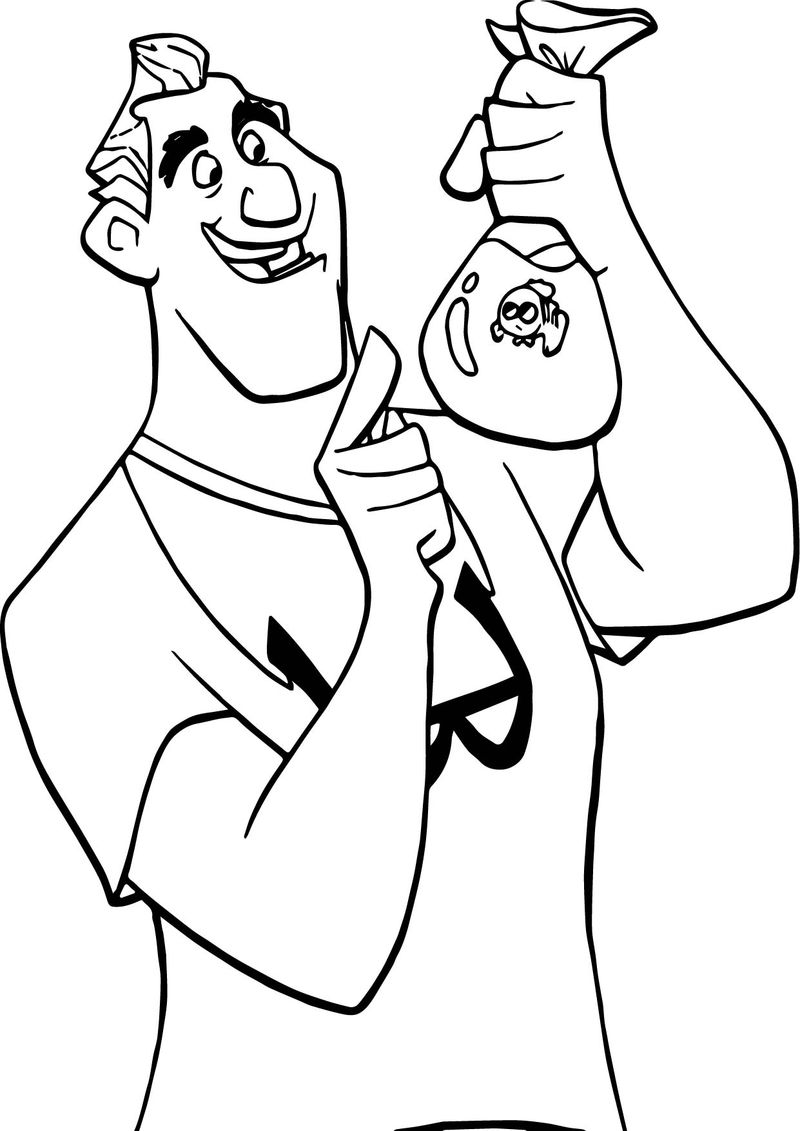 Disney Finding Nemo Catch Man Coloring Pages