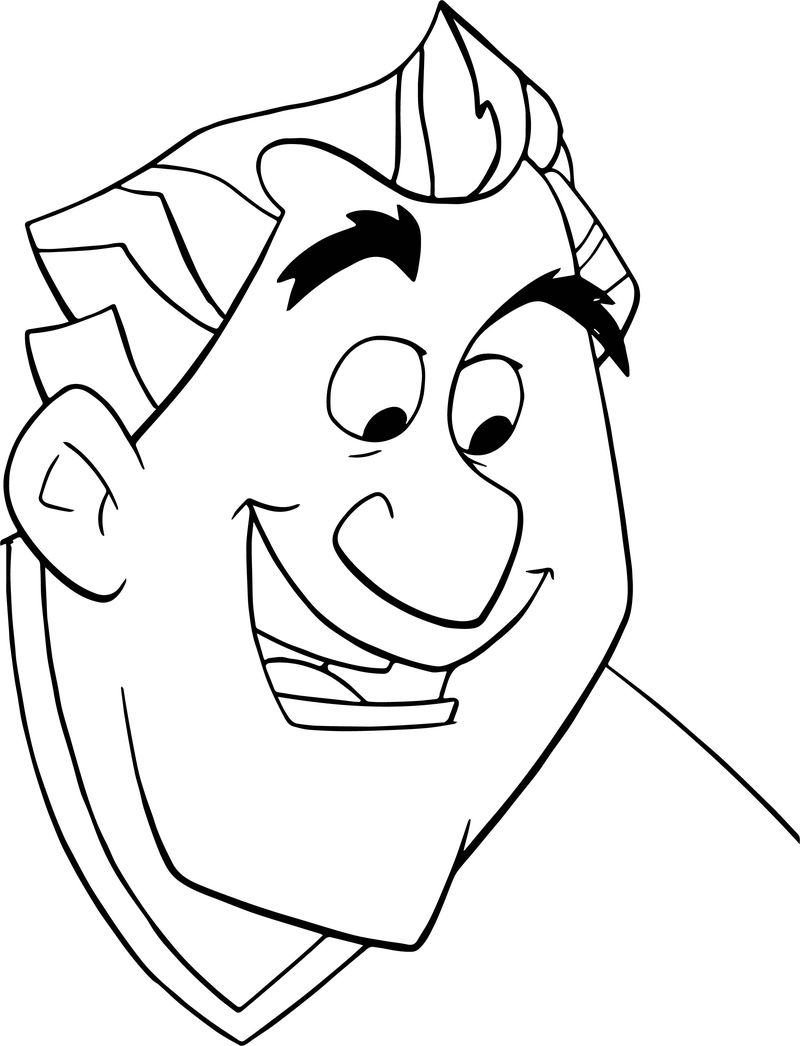 Disney Finding Nemo Dentist Man Coloring Pages