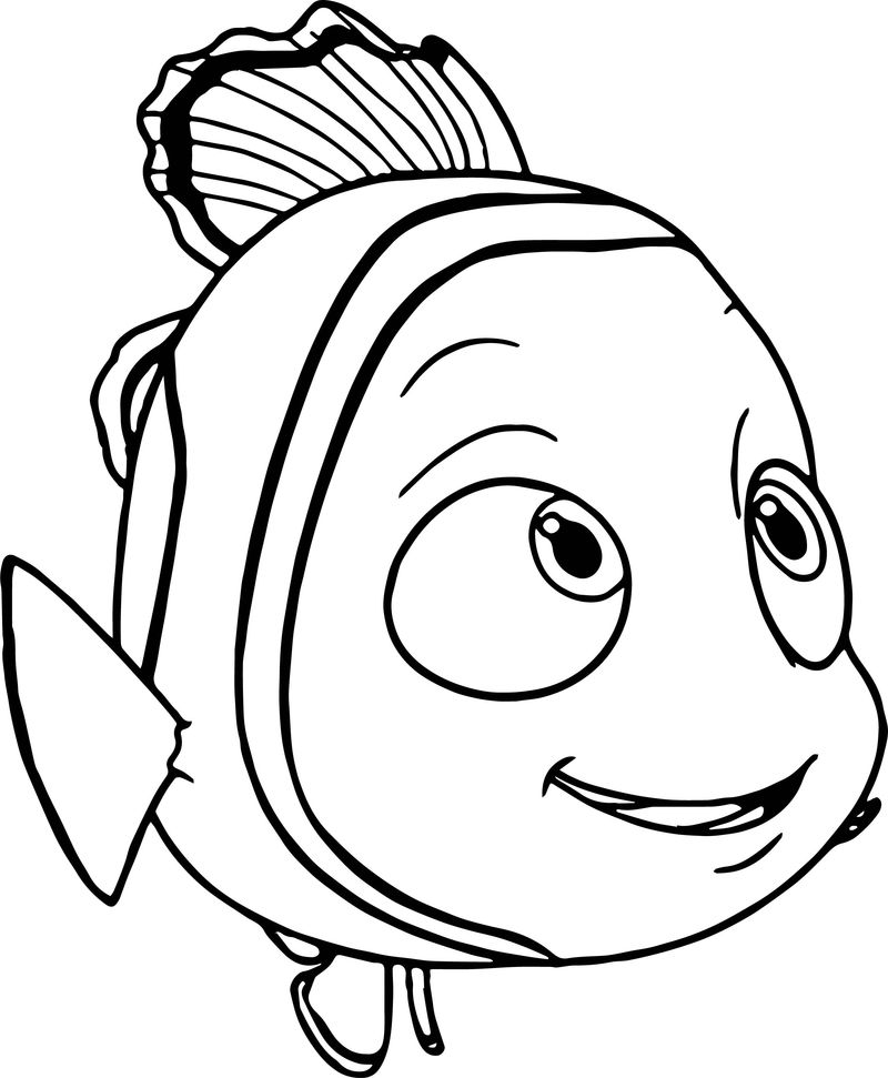 Disney Finding Nemo Look Coloring Pages