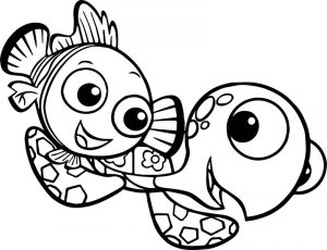 Disney finding nemo squirt coloring pages