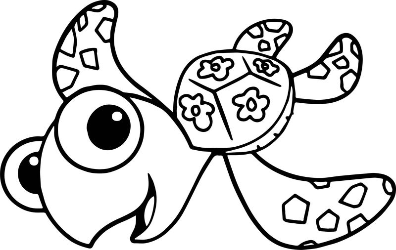 Disney Finding Nemo Squirt Sea Turtle Coloring Pages